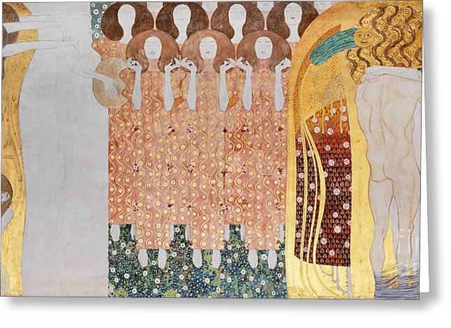 The Longing For Happiness Greeting Card by Gustav Klimt
