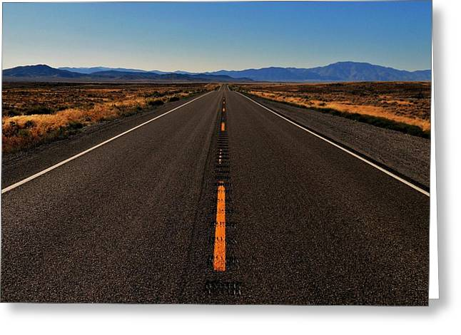 Lonly Greeting Cards - The Lonliest Road Greeting Card by Benjamin Yeager