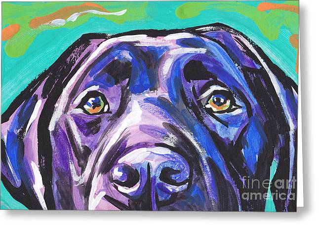 The Look Of Lab Greeting Card by Lea S