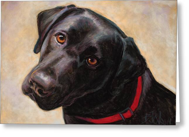 Labradors Pastels Greeting Cards - The Look of Love Greeting Card by Billie Colson