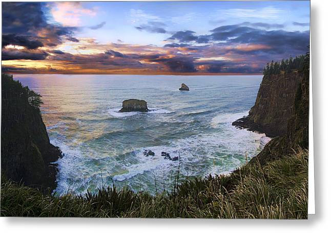 The Lookout Greeting Card by James Heckt