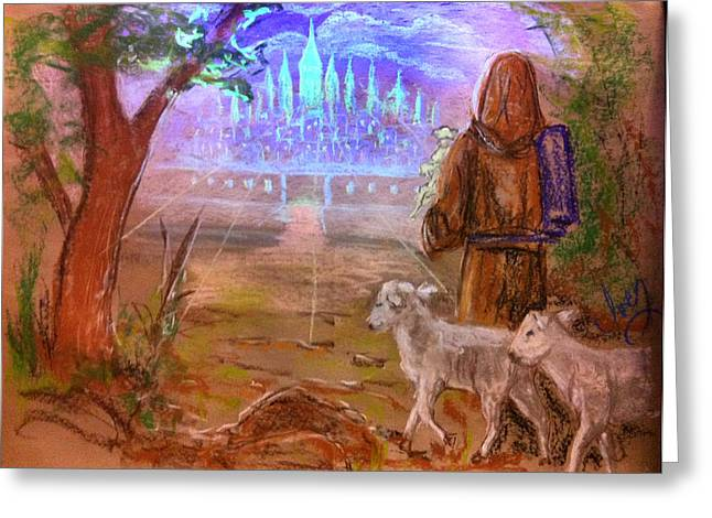 Mike Ivey Greeting Cards - The Lord Is My Shepherd Greeting Card by Mike Ivey