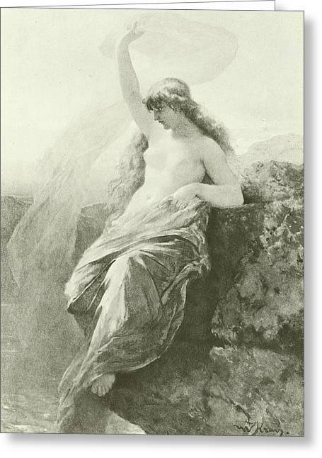 The Lorelei  Greeting Card by Wilhelm Kray