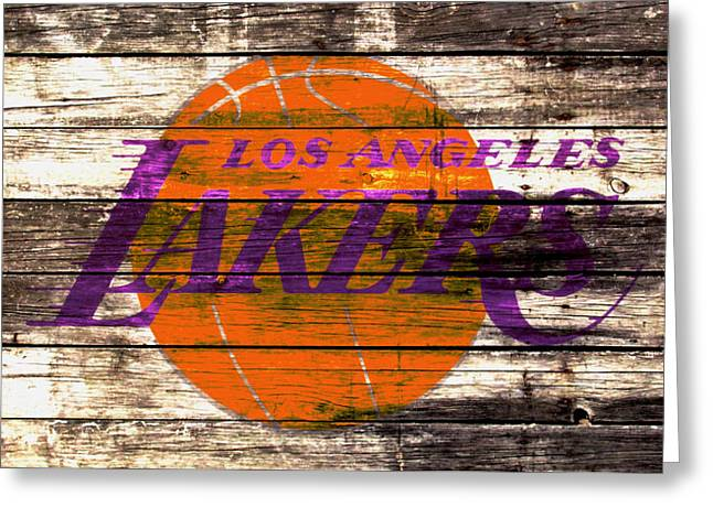 The Los Angeles Lakers 2w Greeting Card by Brian Reaves
