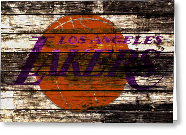 The Los Angeles Lakers 3w Greeting Card by Brian Reaves