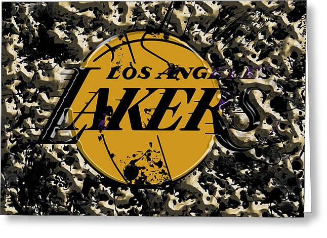 The Los Angeles Lakers B3a Greeting Card by Brian Reaves