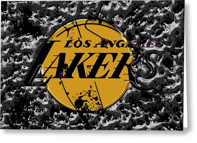 The Los Angeles Lakers B4a Greeting Card by Brian Reaves