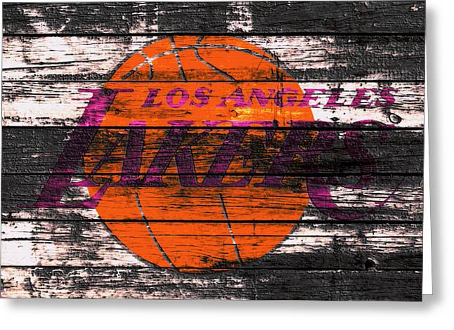 The Los Angeles Lakers W1 Greeting Card by Brian Reaves
