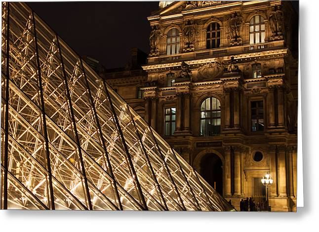 Historic Site Greeting Cards - The Louvre By Night Greeting Card by Marcus Karlsson Sall