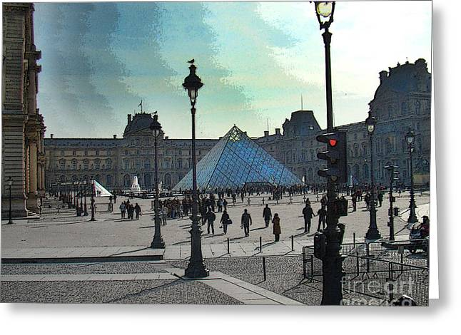 Famous Photographer Greeting Cards - The Louvre In Paris Greeting Card by Al Bourassa