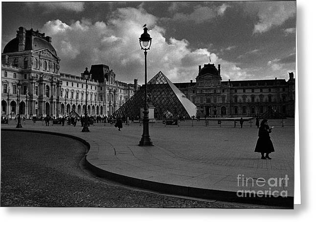 Galeria Greeting Cards - The Louvre Museum Greeting Card by Aldo Cervato