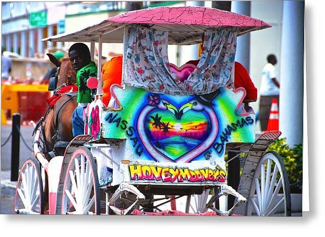 Horse And Buggy Greeting Cards - The Love Buggy Greeting Card by David Coleman