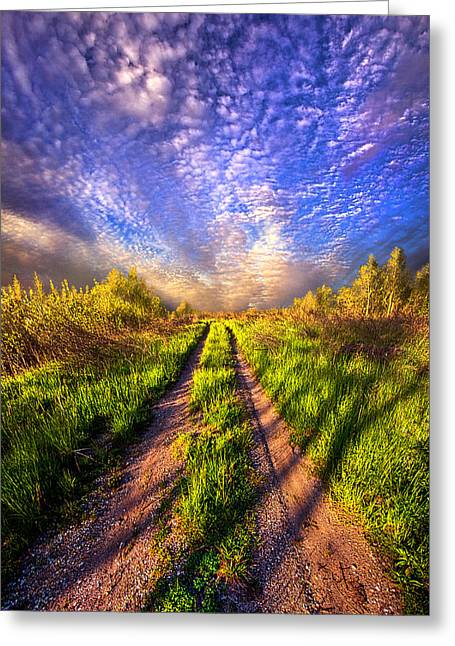 Road Travel Greeting Cards - The Love of Lifes Journey  Greeting Card by Phil Koch
