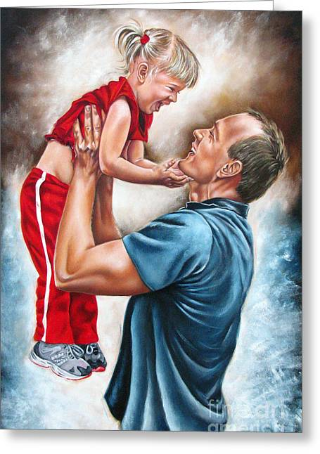 Family Love Greeting Cards - The Love of the Father Greeting Card by Ilse Kleyn