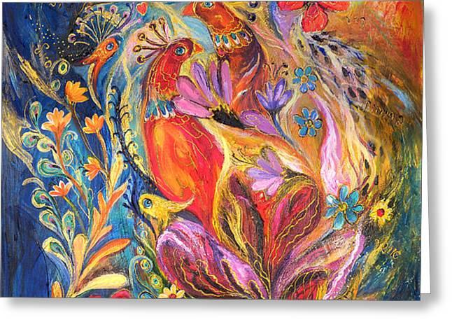 The Love Story II Greeting Card by Elena Kotliarker
