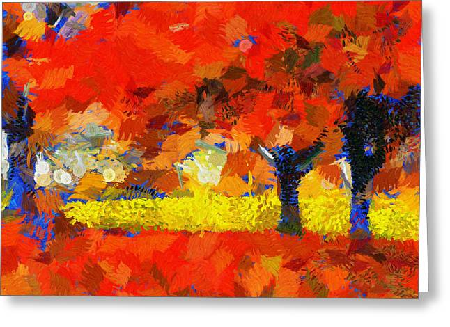 D.w. Paintings Greeting Cards - The Love Trees - Painting Greeting Card by Sir Josef  Putsche Social Critic