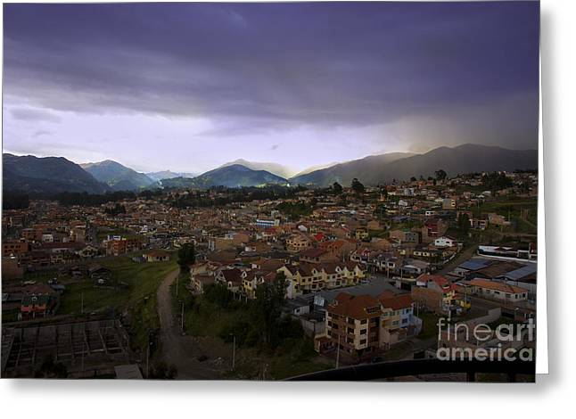 Spanish Peaks Greeting Cards - The Lovely Cajas At Dusk - Cuenca Ecuador Greeting Card by Al Bourassa