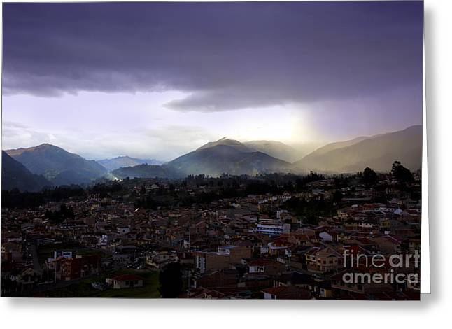 Spanish Peaks Greeting Cards - The Lovely Cajas At Dusk II - Cuenca Ecuador Greeting Card by Al Bourassa