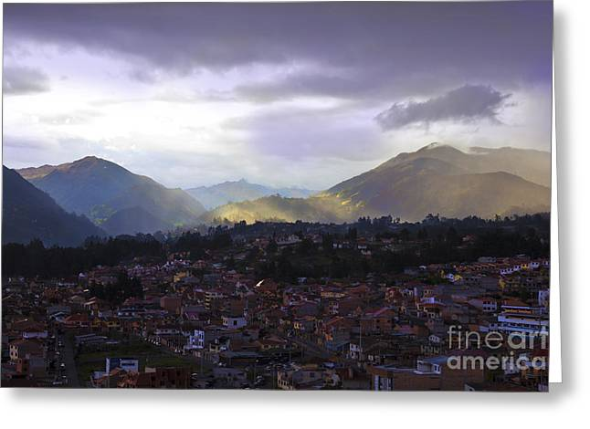 Spanish Peaks Greeting Cards - The Lovely Cajas At Dusk III Greeting Card by Al Bourassa