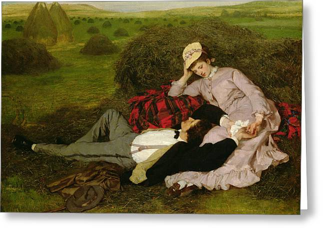 Best Sellers -  - Wife Greeting Cards - The Lovers Greeting Card by Pal Szinyei Merse