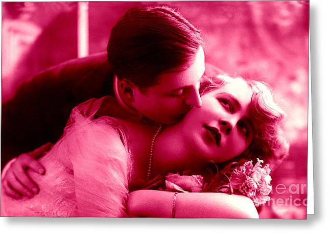 Duo Tone Digital Art Greeting Cards - The lovers Greeting Card by R Muirhead Art