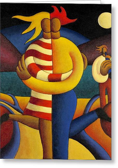 The Lovers Seranade Greeting Card by Alan Kenny