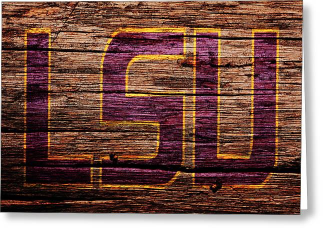 The Lsu Tigers 1b Greeting Card by Brian Reaves
