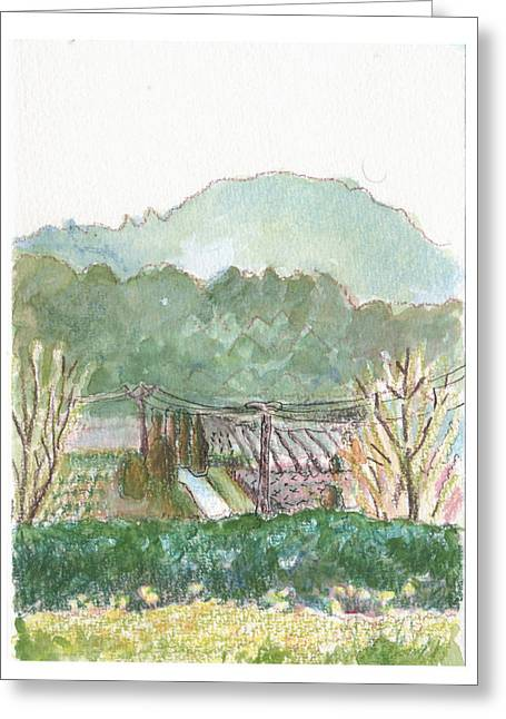 The Luberon Valley Greeting Card by Tilly Strauss