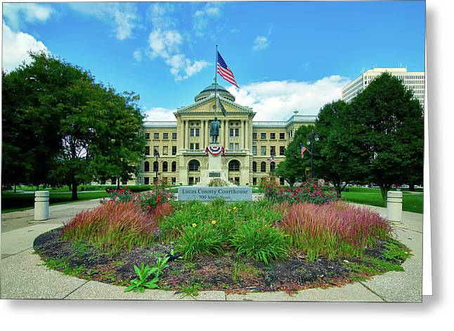 The Lucas County Courthouse Greeting Card by Mountain Dreams