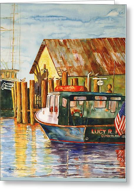 The Lucy R. Greeting Card by Shirley Sykes Bracken