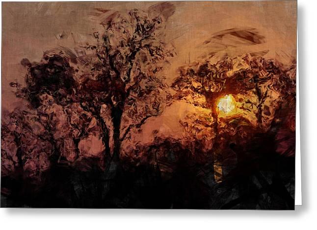 The Madness Of Twilight Greeting Card by Mark Denham
