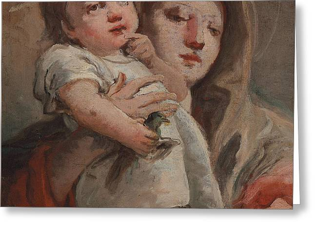 The Madonna And Child With A Goldfinch Greeting Card by Tiepolo
