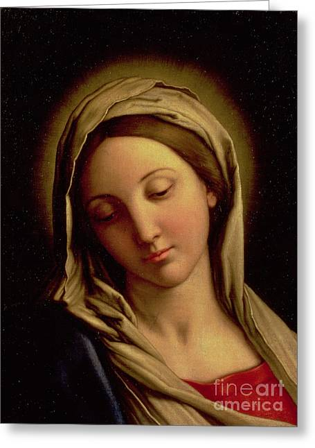 Il Sassoferrato Greeting Cards - The Madonna Greeting Card by Il Sassoferrato