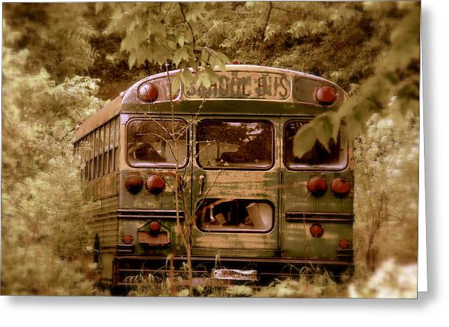 The Magic Bus Greeting Card by Ed Smith