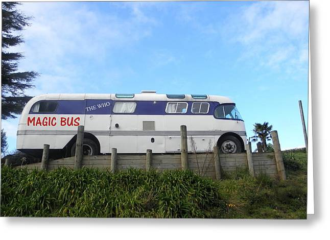 The Magic Bus Greeting Card by Paul Pettingell