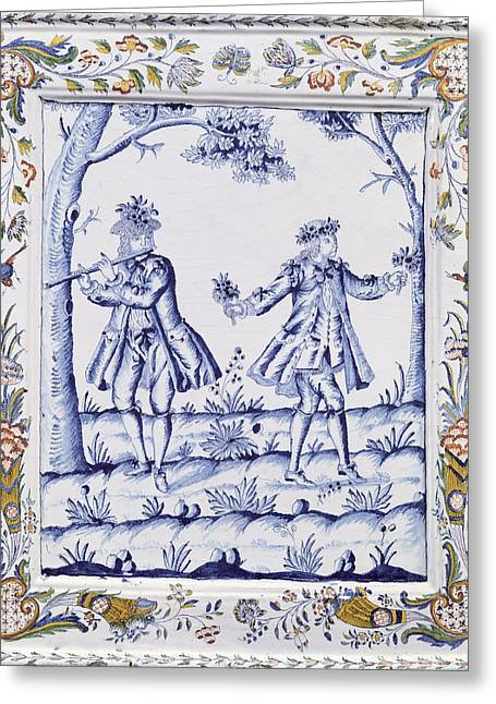 French School; (18th Century) Greeting Cards - The Magic Flute Greeting Card by French School