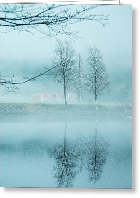 Noregur Greeting Cards - The magic in the fog Greeting Card by Mirra Photography