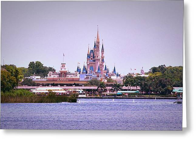 Main Street Greeting Cards - The Magic Kingdom	 Greeting Card by Caroline Collins