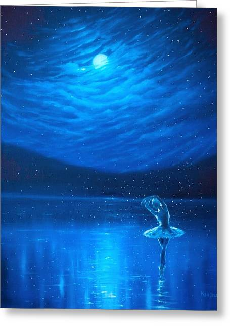 Reflections Of Sky In Water Greeting Cards - The magic of ballet Greeting Card by Ksusha Scott