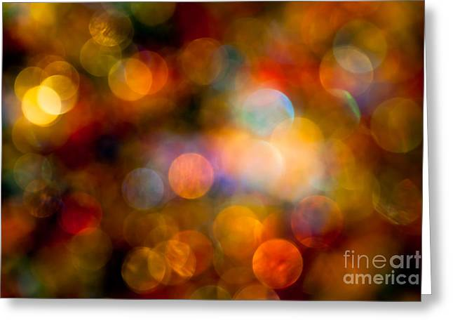Warm Colours Abstract Greeting Cards - The Magic of Your Touch Greeting Card by Jan Bickerton