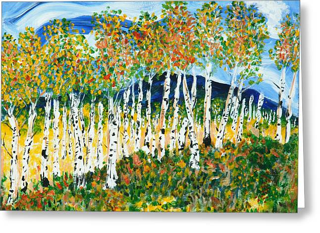 The Magical Aspen Forest Greeting Card by Christy Woodland