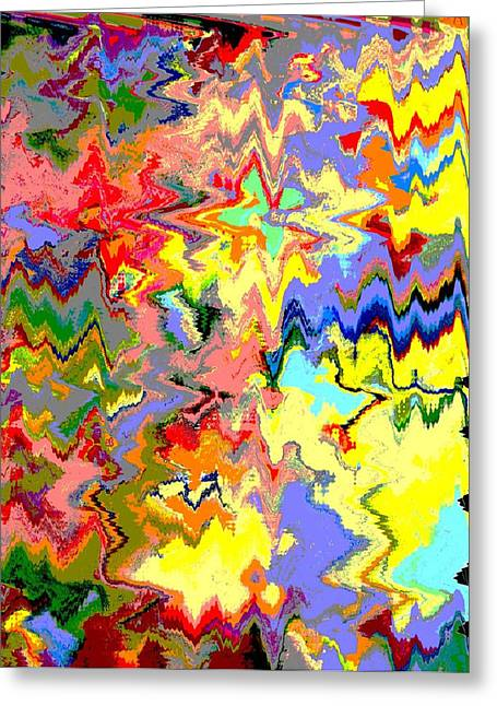 Abstract Shapes Greeting Cards - The Magical Forest Greeting Card by Lenore Senior