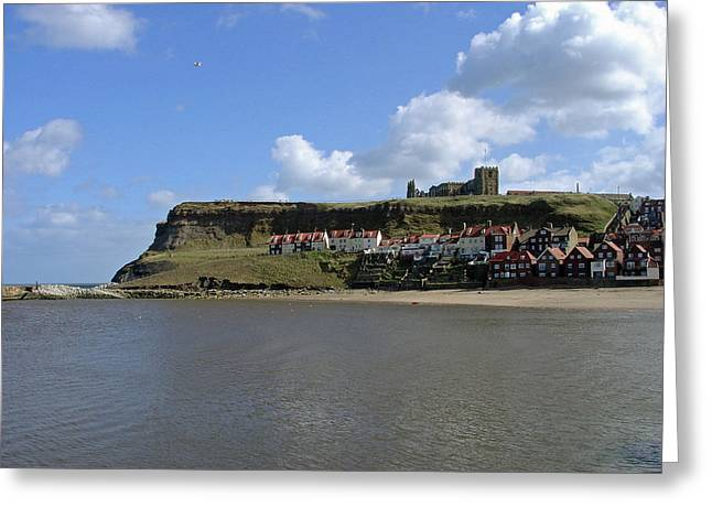 Seaside Greeting Cards - The Majestic East Cliff Greeting Card by Rod Johnson
