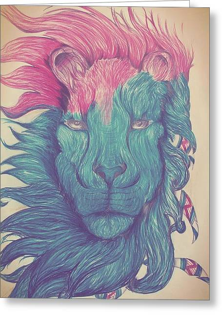 Sea Lions Greeting Cards - The Majestic Lion Greeting Card by Mohamed Hannoura