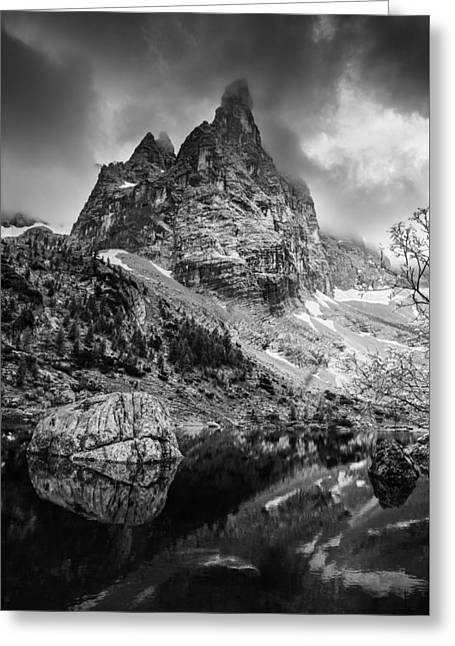 Black Top Greeting Cards - The majesty of mountains Greeting Card by Yuri Santin