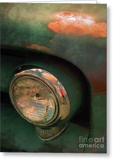 Rusted Cars Greeting Cards - The Man at the Car Show Greeting Card by Tara Turner