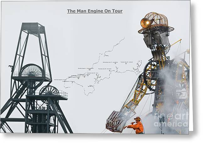The Man Engine On Tour Greeting Card by Terri Waters