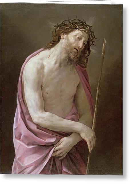 Crown Greeting Cards - The Man of Sorrows Greeting Card by Guido Reni
