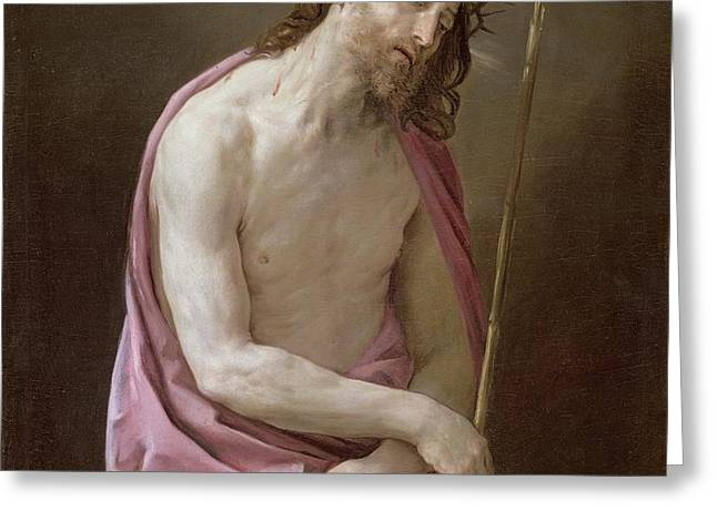 The Man of Sorrows Greeting Card by Guido Reni