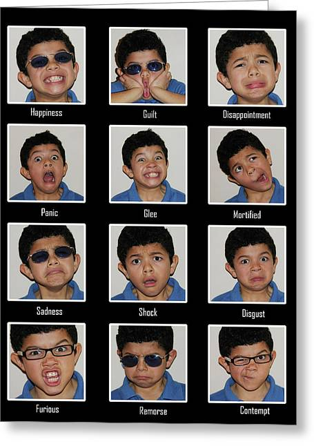 The Many Faces Of Emilio Greeting Card by Rianna Stackhouse